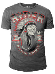 Ryder Supply Clothing - Navajo Mens T-shirt (Charcoal Grey)