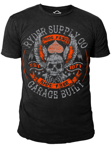 Ryder Supply Clothing -  Rebels Mens T-shirt (Black)