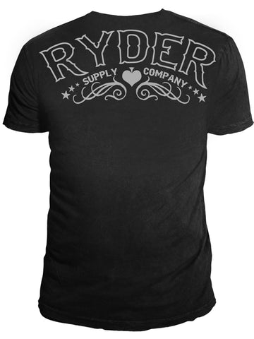 Ryder Supply Clothing - Spade Mens T-shirt (Black)