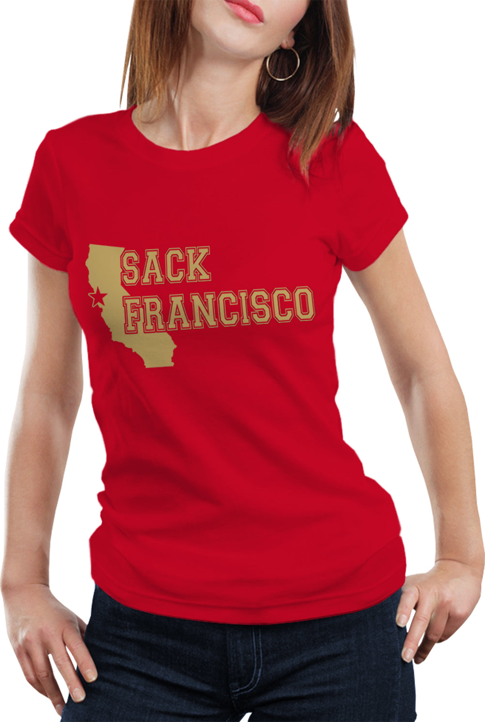 SACK FRANCISCO DEFENSE San Francisco 49ers Football Girl's T-Shirt