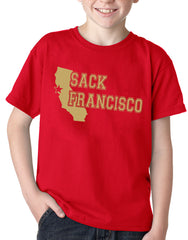 SACK FRANCISCO San Francisco 49ers Football Kid's T-Shirt