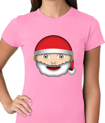 Santa Emoji Ladies T-shirt