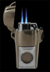 Saratoga Smoking Club Dual Torch Cigar Lighter With Cutter