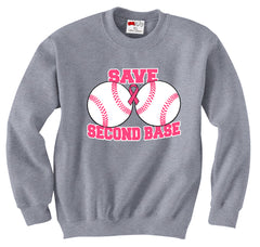 Save Second Base Crew Neck Sweatshirt