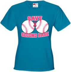 Save Second Base Girl's T-Shirt