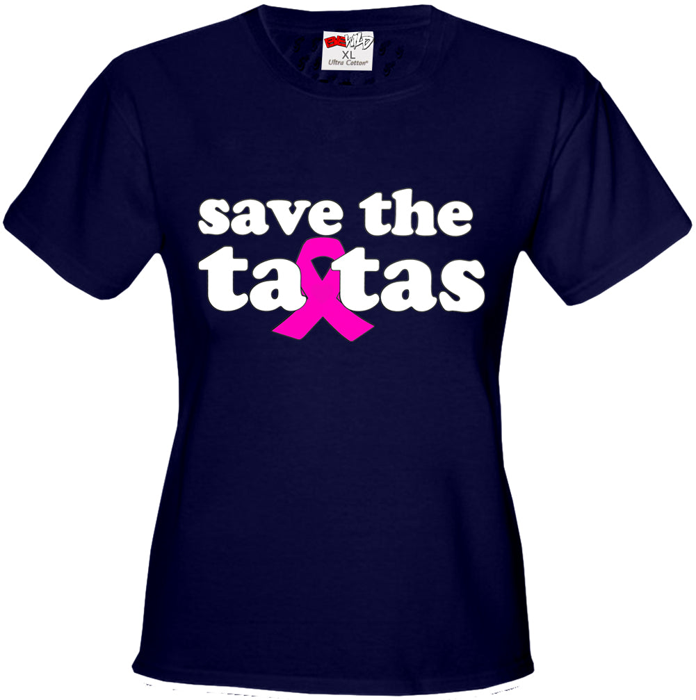 Save The Ta Tas Breast Cancer Awareness Girls T-shirt