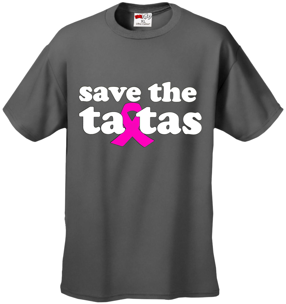 Save The Ta Tas Breast Cancer Awareness Mens T-shirt