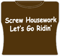 Screw Housework Girls T-Shirt (Brown)