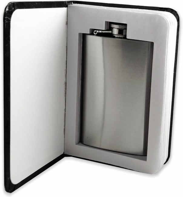 Secret Hidden Flask in a Marble Note Book
