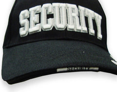 Security Baseball Hat (Black)