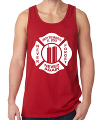 September 11, 2001 Never Forget, Never Again Tank Top