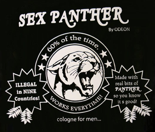 Sex Panther Cologne T-shirt :: From the movie Anchorman