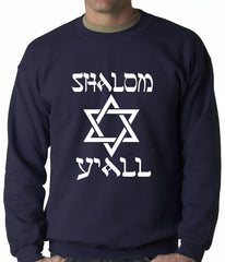 Shalom Y'all Adult Crewneck