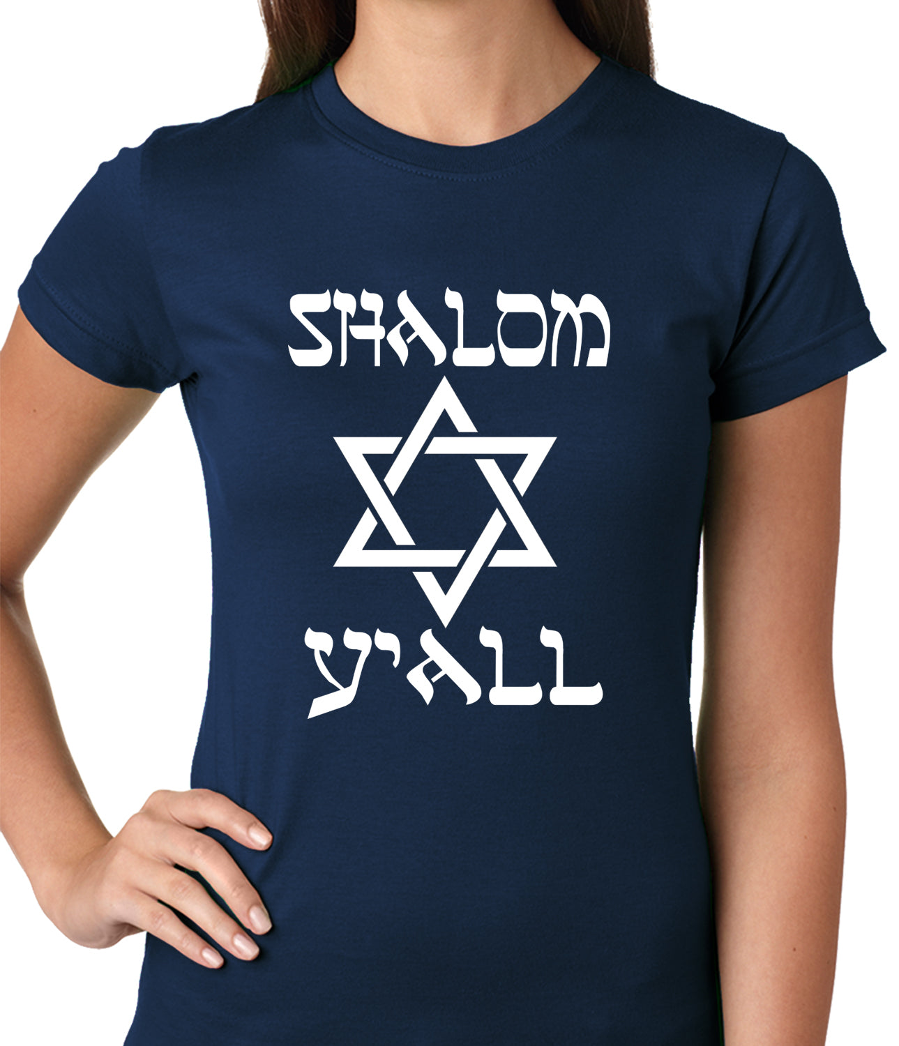 Shalom Y'all Ladies T-shirt