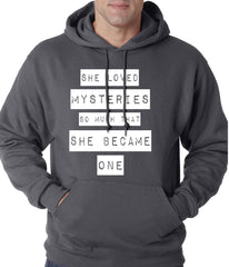 She Loved Mysteries So Much, She Became One Adult Hoodie