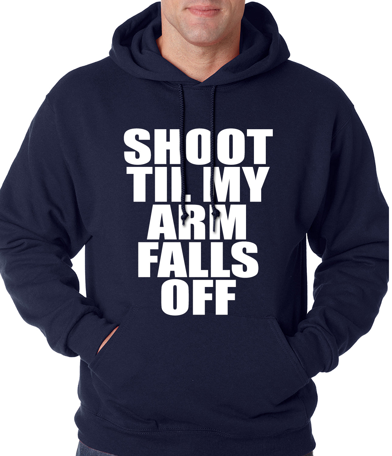 Shoot Til My Arm Falls Off Basketball Adult Hoodie