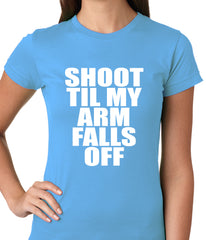 Shoot Til My Arm Falls Off Basketball Ladies T-shirt