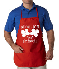 Show Me Your Shamrocks St. Patrick's Day Apron
