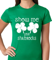 Show Me Your Shamrocks St. Patrick's Day Girls Shirts