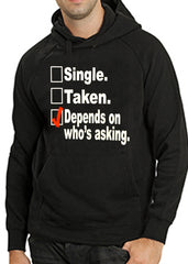 Single, Taken, Depends On Who's Asking Checklist Adult Hoodie
