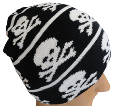 Skull and Crossbones Knit Beanie