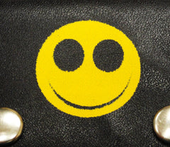 Smiley Face Genuine Leather Chain Wallet