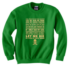 Sniper Prayer Crew Neck Sweatshirt