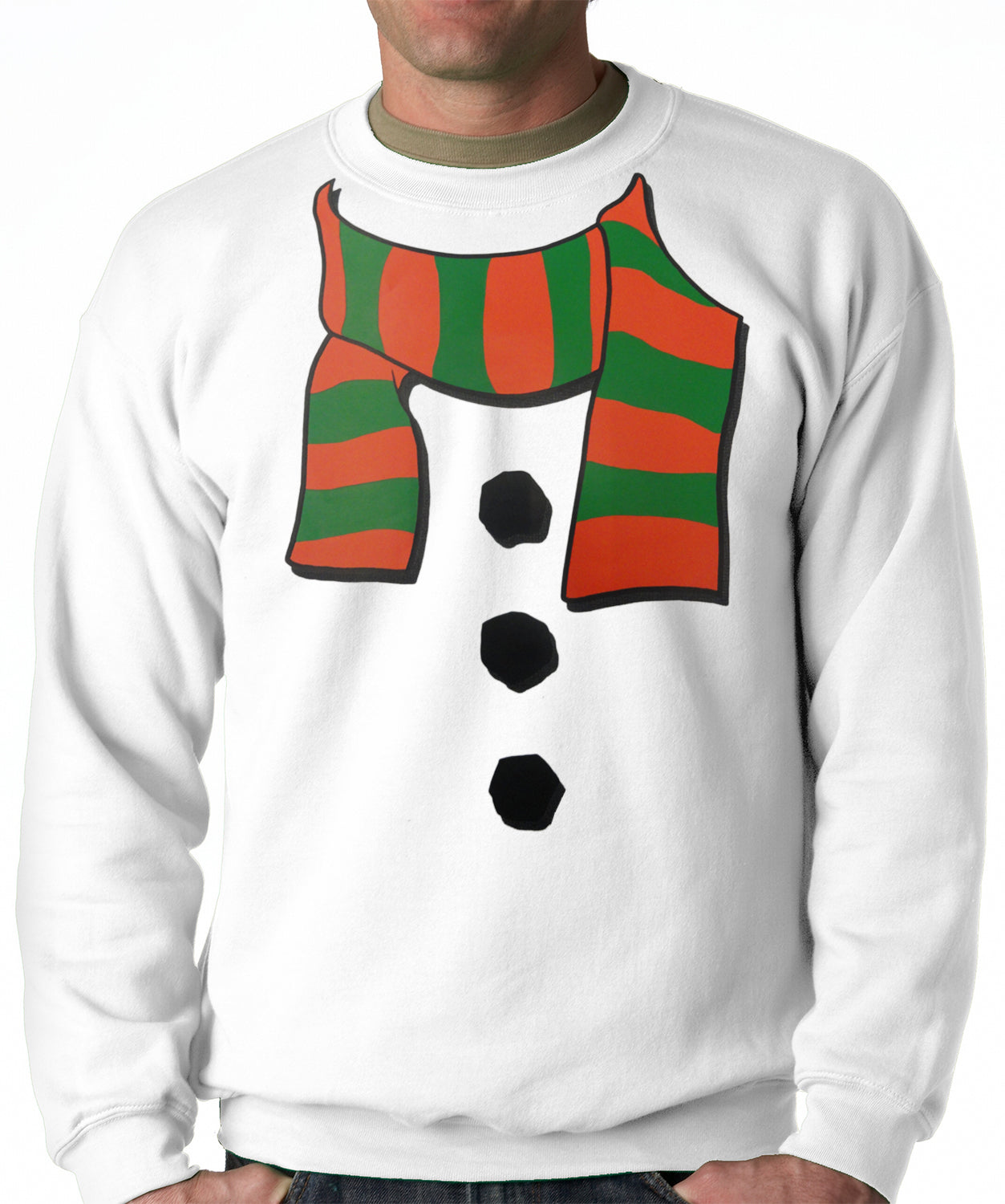 Snowman Costume Adult Crewneck