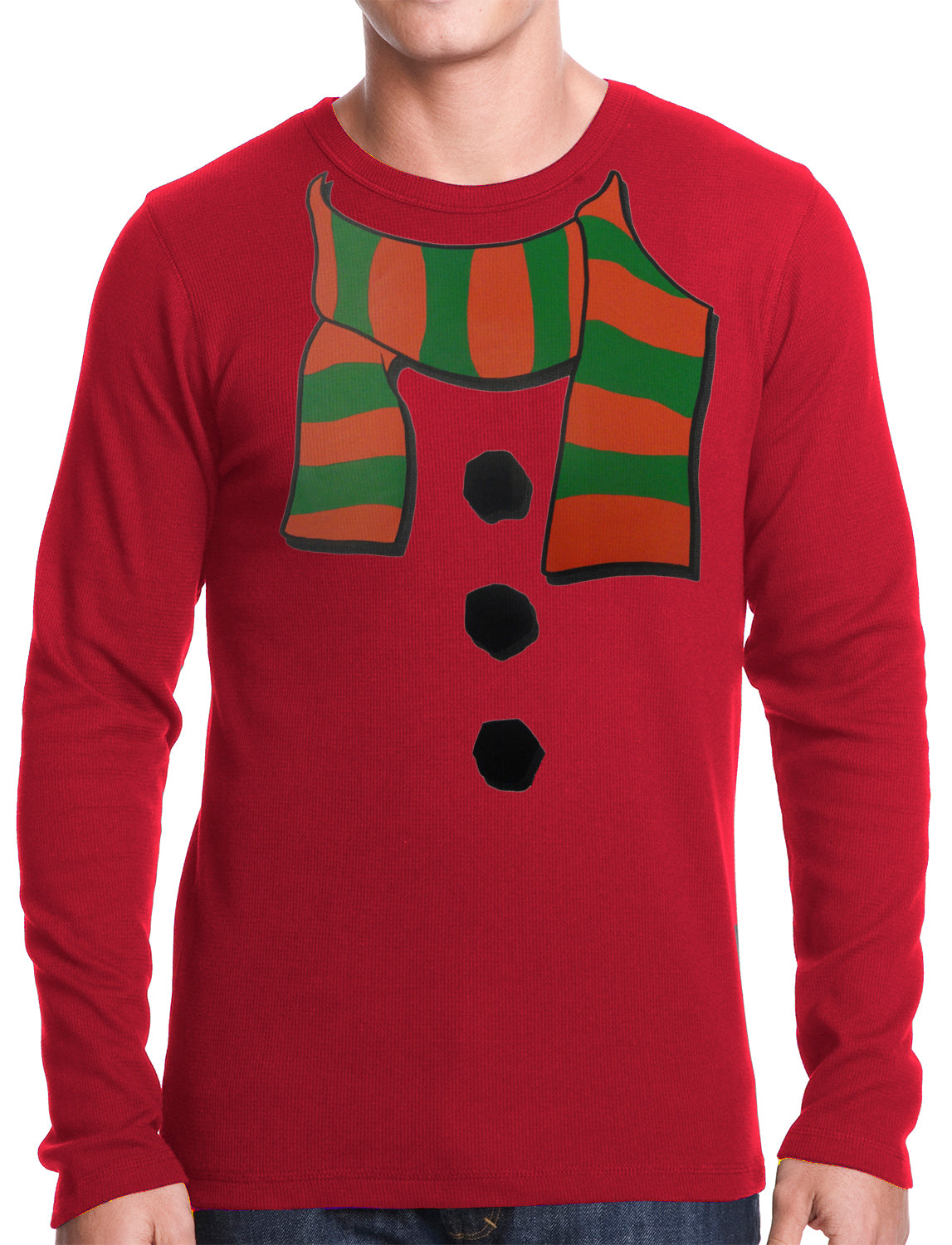 Snowman Costume Thermal Shirt