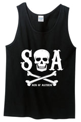 SOA Men Of Mayhem Skull and Crossbones Tank Top (Black)
