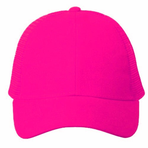 Solid Neon Pink Trucker Hat – Bewild a4048d3a6fa