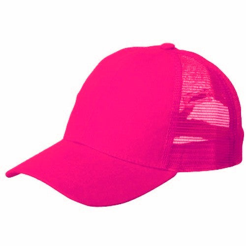 Solid Neon Pink Trucker Hat