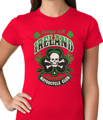 Sons of Ireland Shamrock Skull Biker Girls T-shirt