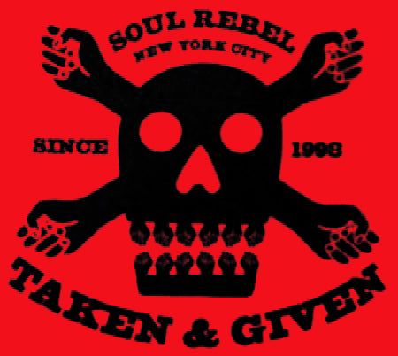 Soul Rebel NYC Skull T-shirt (Red)