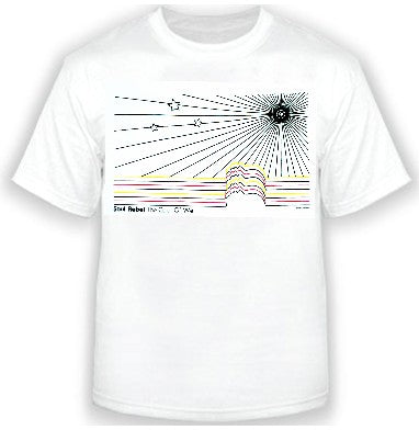 Soul Rebel Sun Burst Men's T-Shirt (White)