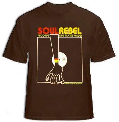 Soul Rebel Turntable T-Shirt (Brown)