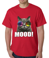 Spaced Mood Cat Mens T-shirt