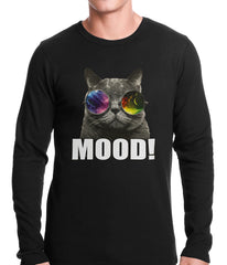 Spaced Mood Cat Thermal Shirt