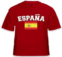"Spain ""España"" Vintage Flag International Mens T-Shirt"