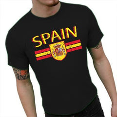Spain Vintage Shield International Mens T-Shirt