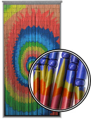 Spiral Tie Dye Wooden Door Beads