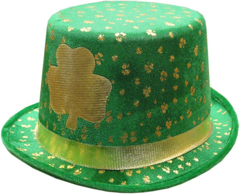 St. Patrick's Day Golden Shamrock Top Hat