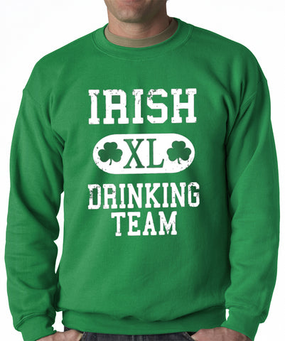 St. Patrick's Day Irish Drinking Team Adult Crewneck