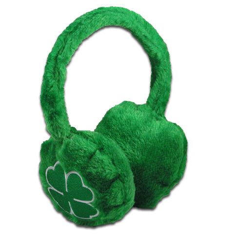 St. Patrick's Day Irish Shamrock Furry Earmuffs