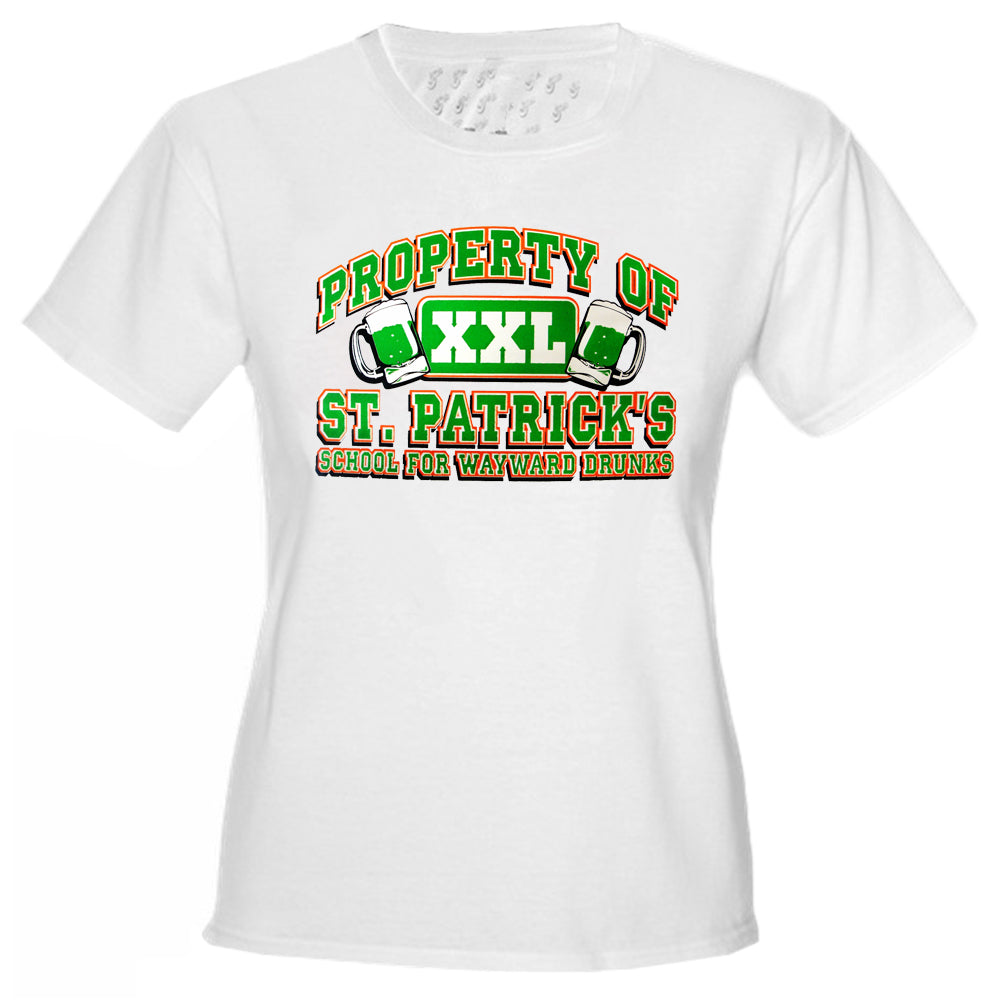 "St.Patrick's Day ""School For Wayward Drunks"" Girls T-Shirt"