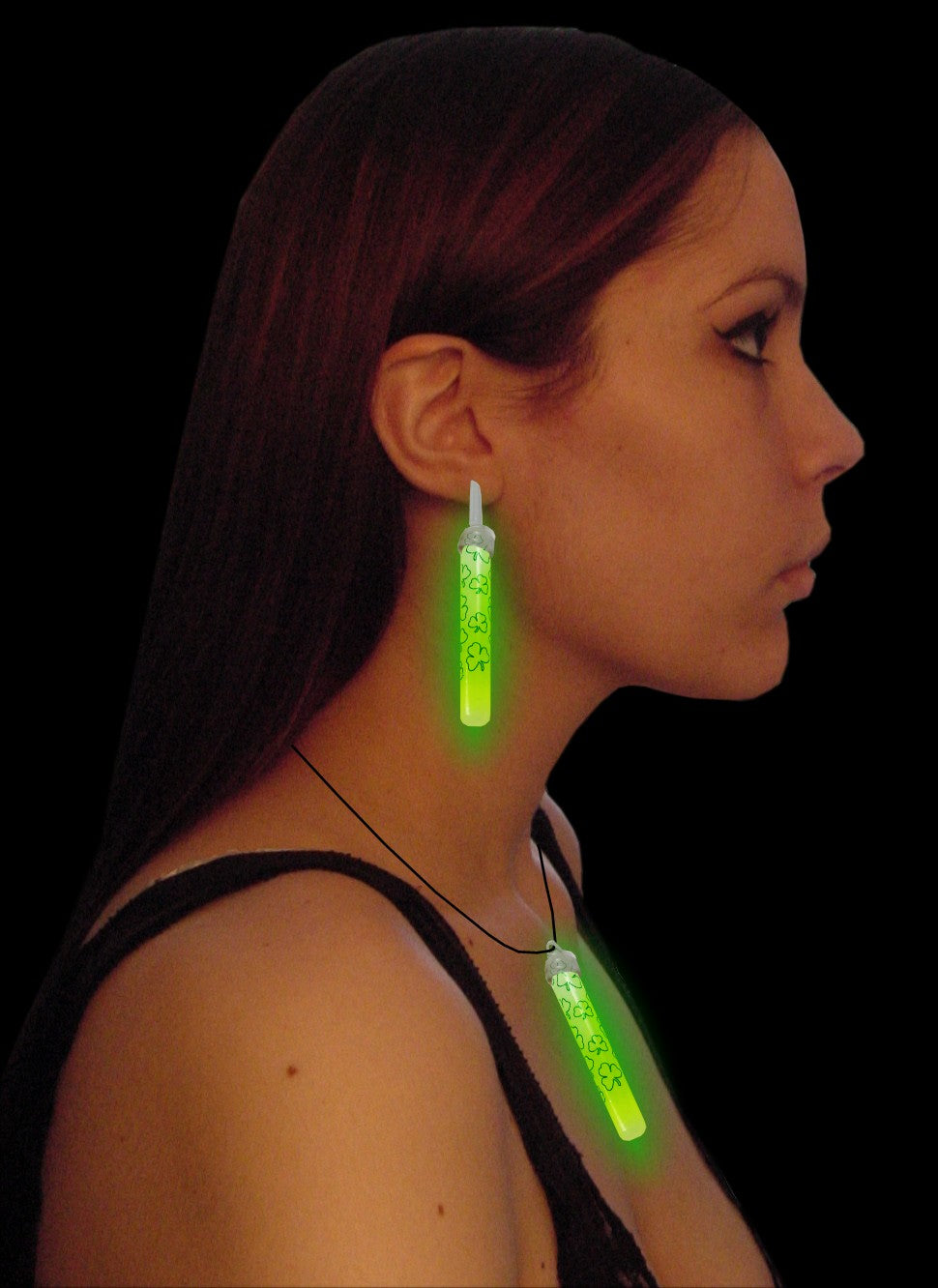 St. Patrick's Day Shamrock Glow Stick Jewelry Set