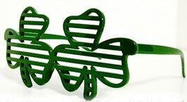 St.Patrick's Day Shamrock Slotted Shades