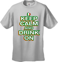St. Patrick's Day Shirts - Keep Calm and Drink On Men's T-Shirt