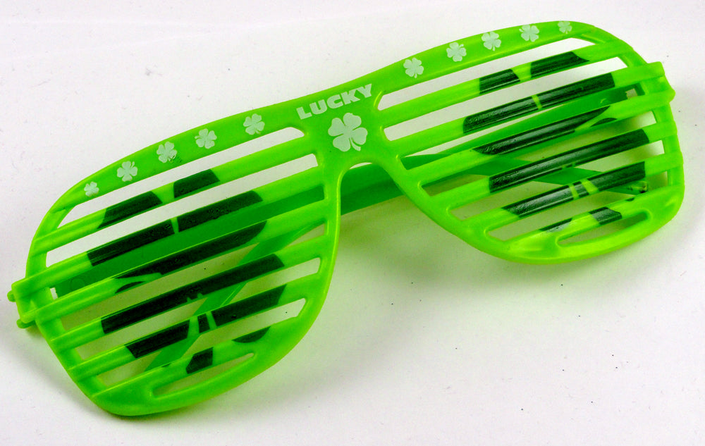 St. Patrick's Day Slotted Sunglasses