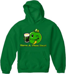 St. Patrick's Day Sweatshirts - Have a Nice Day Irish Smiley Hoodie